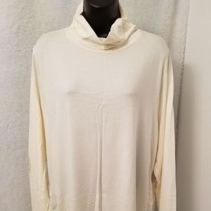 Coldwater Creek NWT Ivory Ruched Turtleneck Shirt